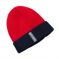 Warm Red Cap for boy size 48-50. HAPPY SCHOOL