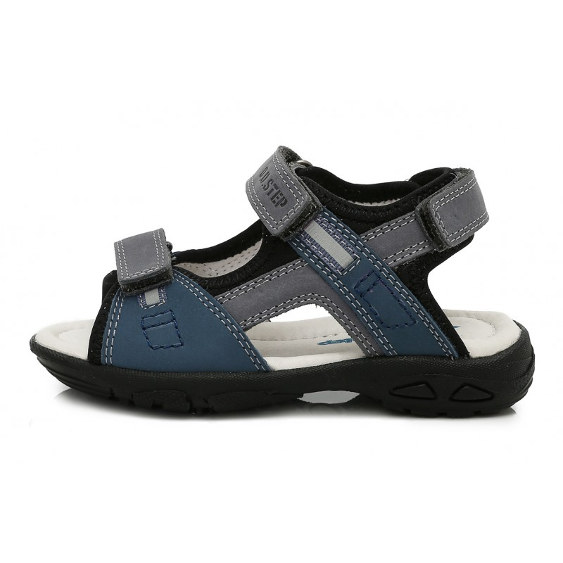 SANDALS Boys canvas shoes with REAL LEATHER insole NEW