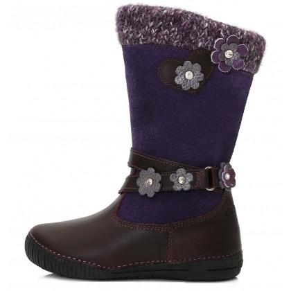 Violetiniai ilgaauliai batai su vilna 25-30 d. W036708M