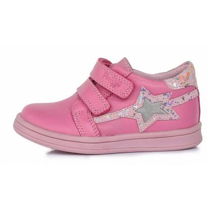 Rožiniai odiniai batai vaikams blizga 22-27 d. DA031362