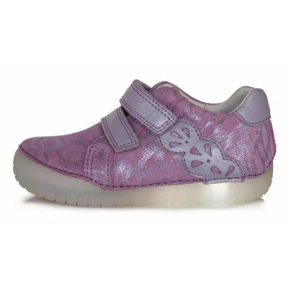 LED batai vaikams, odiniai mirksintys batai 31-36 d. 0503AL