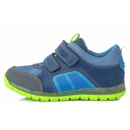 Mėlyni batai vaikams pavasariui ryškiu padu 22-27 d. DA071716