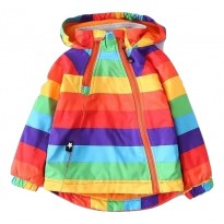 Rainbow color spring/Autumn Jacket for boy BSTR10039
