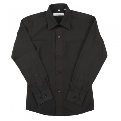 Juodi marškiniai ilgomis rankovėmis berniukui BMA10017