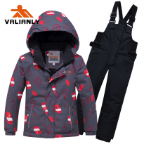 Valianly winter overall 8913-Grey