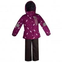 Violetinis 2 dalių žieminis KALBORN kombinezonas mergaitei K2012A/299_violet