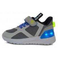 Pilki sportiniai LED batai 30-35 d. F61243L