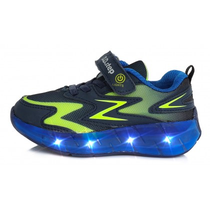 Mėlyni sportiniai LED batai 30-35 d. F61275L
