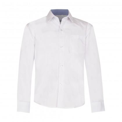 Balti marškiniai ilgomis rankovėmis NORMAL 128-164 d.