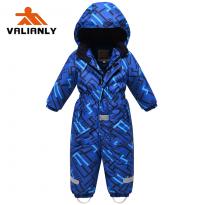 Vientisas mėlynas žieminis VALIANLY kombinezonas 86-116