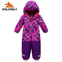 Vientisas violetinis žieminis VALIANLY kombinezonas 98-128