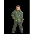 Žalias 2 dalių žieminis VALIANLY kombinezonas berniukui