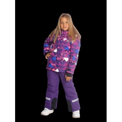 Violetinis 2 dalių žieminis VALIANLY kombinezonas mergaitei