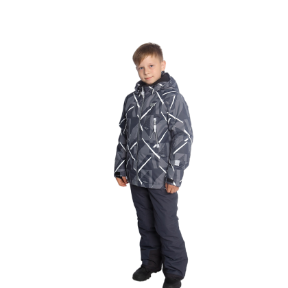 Pilkas 2 dalių žieminis VALIANLY kombinezonas berniukui