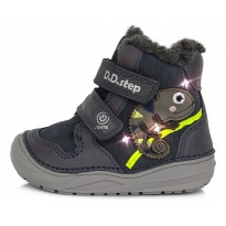 Tamsiai mėlyni LED batai su vilna 20-25 d. W071180-WOOL